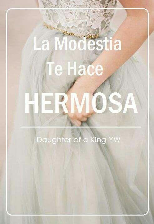 """La modestia te hace hermosa!"" #SUD #MujeresJovenes"
