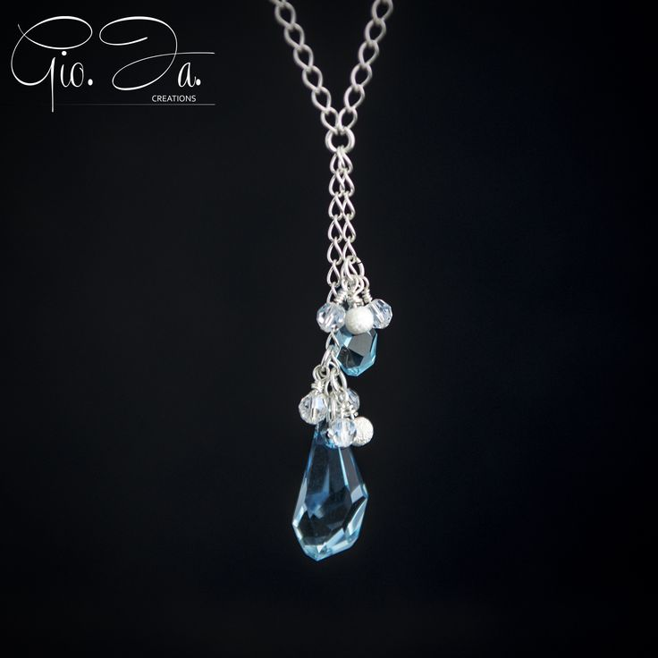 Crystal Navy Necklace