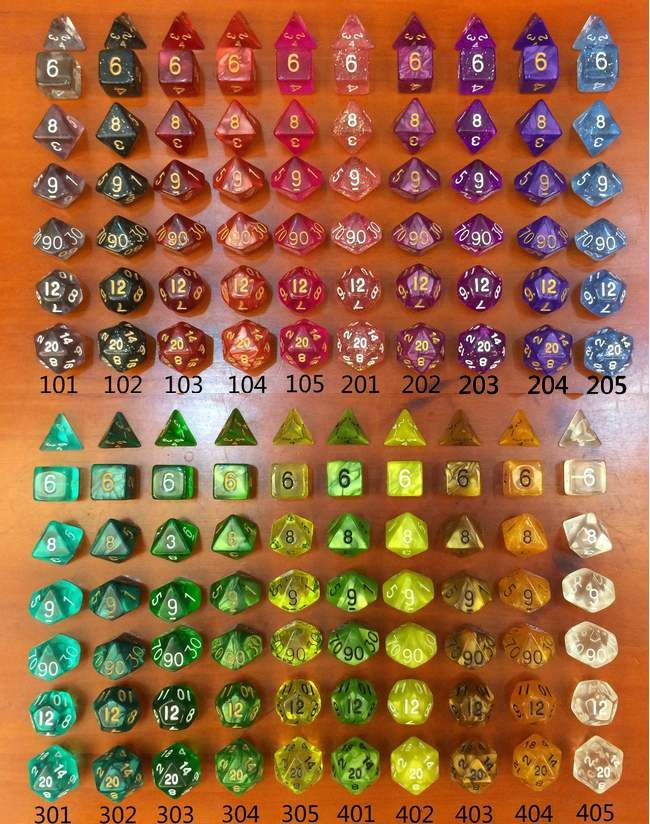 Nieuwe kleur d & d 7 stks/set Hars Polyhedral TRPG Games dobbelstenen/2016 hot polyhedrale dobbelstenen