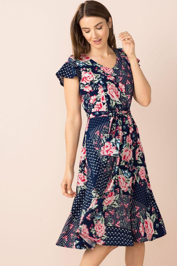 Capture Fit and Flare Dress Online | Shop EziBuy