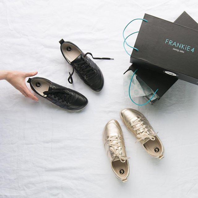 Add a touch of luxe to your everyday. JENNi in tin gold or black - which pair do you reach for?⠀ ⠀ www.frankie4.com.au⠀ ⠀ ⠀ ⠀ #frankie4footwear #savingsoles #podiatristdesignedfrankie4 #physiotherapistdesigned #australiandesigned
