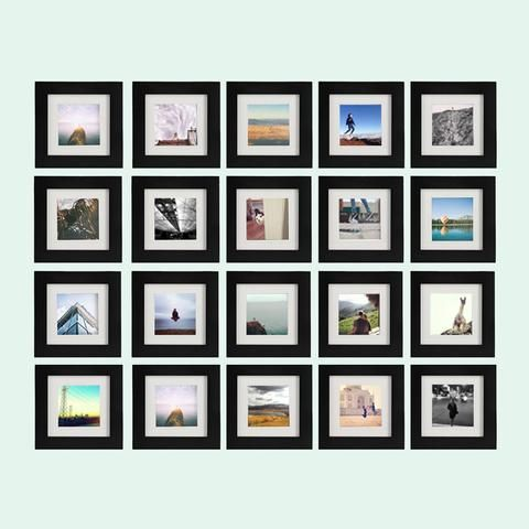 9 Pack Black 6x6 Photo Frame 4x4 Matted Frame Perfect