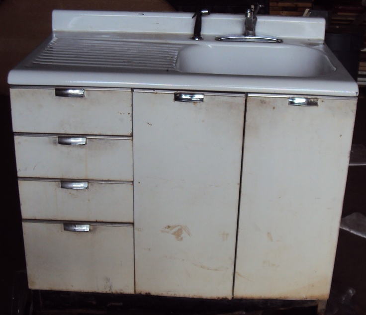 kitchen cabinet sink drawer vintage kitchen sink cabinet enamel steel w drawers 19561
