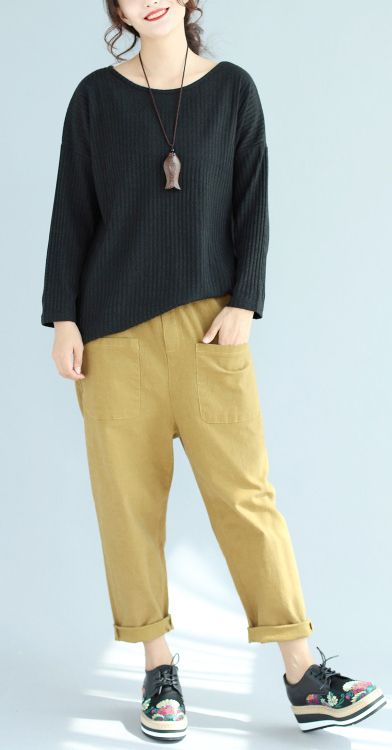 baggy-loose-winter-woolen-black-sweater-slim-fit-long-sleeve-knit-pullover2