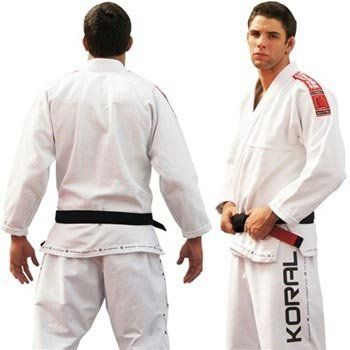 Koral Kimono Classic White - A2 by Koral. $169.90. High Performance Gi. 100% Cotton. 100% pre-shrunk. Slightly lighter fabric and looser fit compare to the MKM Gi. Koral logo printed on pants. Subject to an industrial process that provides total shrunk of the gi and top quality. Jacket is made with one piece of fabric with no seam in the back, providing strength, comfort and durability. Lapel has rubber inside to help keep it soft and make the gi dry faster. Al...