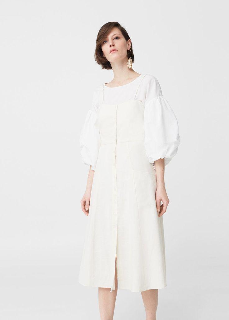 Robe coton boutonnée -  Femme   MANGO France