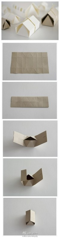 How to make a cute little house-shaped box
