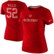 cool Nike Patrick Willis San Francisco 49ers Ladies's Participant Identify and Quantity T-Shirt - Scarlet