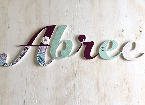 Girl's Room Letters Purple and Mint or Aqua  Baby Nursery