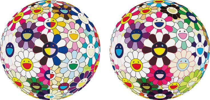 Takashi Murakami est un artiste japonais né en 1962 qui crée des peintures, des sculptures et des installations inspirées de l'art japonais du manga qu'il produit dans différentes couleurs et formats. Il est particulièrement connu pour ses tableaux de fleurs multicolores avec des visages souriants et pour un autoportrait en bonhomme à lunettes qui apparaît …