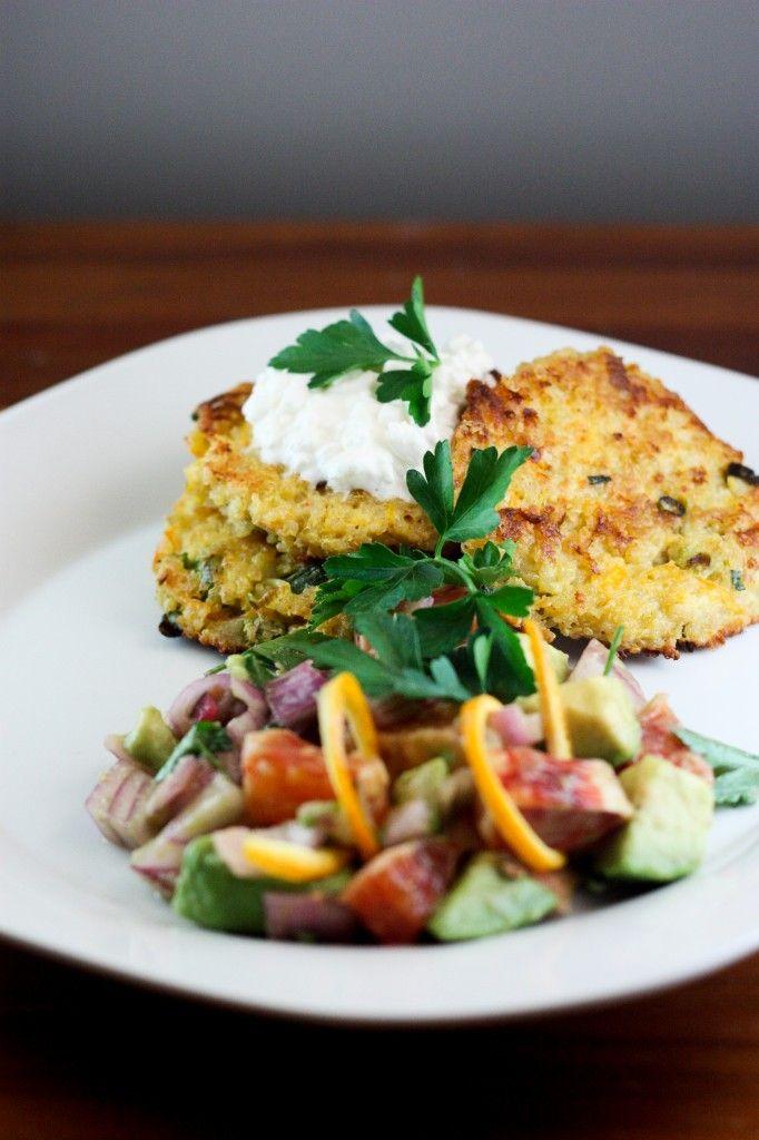 Quinoa Burgers & Fresh Avocado Blood Orange Salad | BS' In The Kitchen