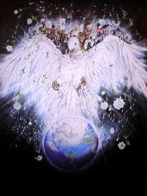 """""""Peace Without Borders"""" 2005-2006 Grand Prize Winner by 13-year-old Cleverson da Silva Rosa of Brazil"""