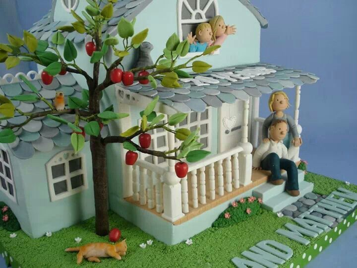 Cake Decoration For House Blessing : 14 best House Blessing Cake images on Pinterest House ...