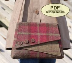 DESCRIPTION:  Please note: If you wish to make a few bags from Charlie's Aunt sewing patterns or books to sell, please read the rules in the additional information section of our policies page.  This is a PDF sewing pattern for The Breckland Bag. Inspired by the simple but slightly quirky shapes of the 1940s, this is the most versatile and useful style in the Charlie's Aunt collection to date. I can picture the smartly dressed wartime code-breakers going to work at Bletchley Park with this…