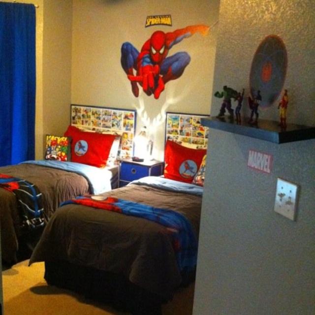 139 best images about kids room on pinterest loft beds for Spiderman kids room