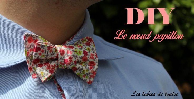 DIY patron gratuit noeud papillon  - Les lubies de louise-titre