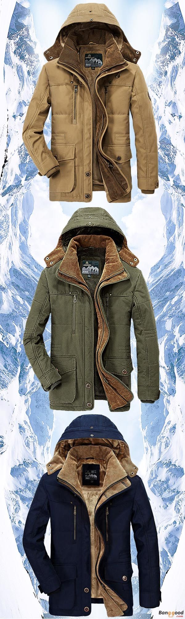 US$99.99 + Free Shipping. LAST 2 Week Promotion. Mens Coat, Thick Coat, Fleece Winter Coat, Hooded Coat, Outdoor Coat, Solid Color Jacket. Color: Blue, Coffee, Army Green, Khaki. Dress Up, Winter is Coming!