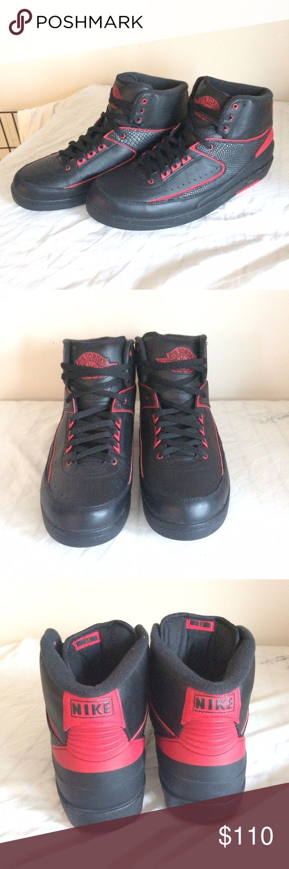 "Air Jordan 2 Retro ""Alternate 87"" Exclusive Jordan Retro 2's in black and varsity red. Men's size 13, hard to find. Brand new without box, never worn, perfect condition. Jordan Shoes Sneakers"
