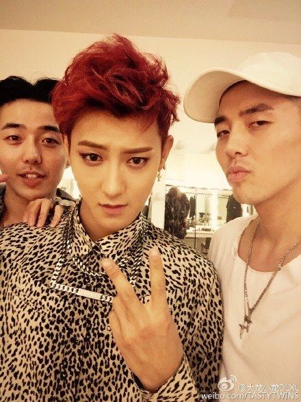 TASTY spotted attending Z.Tao's mini-concert in China tao gorgeous red hair,my fav colaaaar!