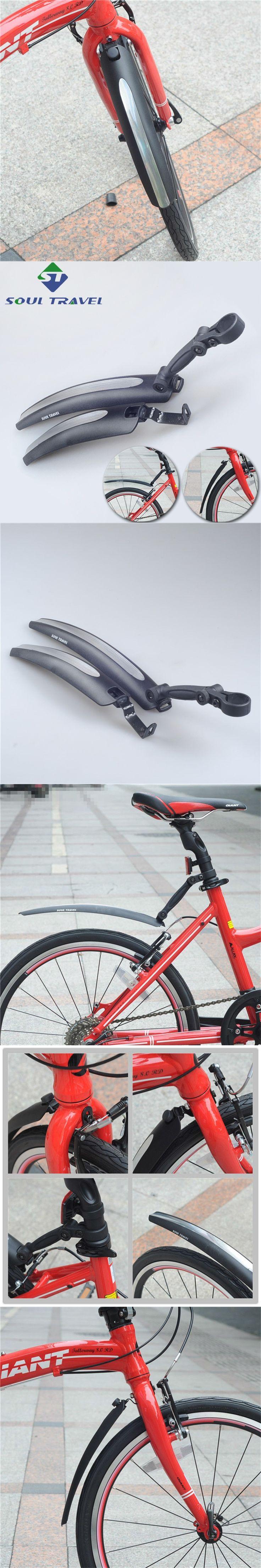 Soul Travel 16 20 Inch Cycling Plastic Folding Bike Fender Dirt Mud Bridge Front Rear Fenders Set Quick Release Bicycle Mudguard