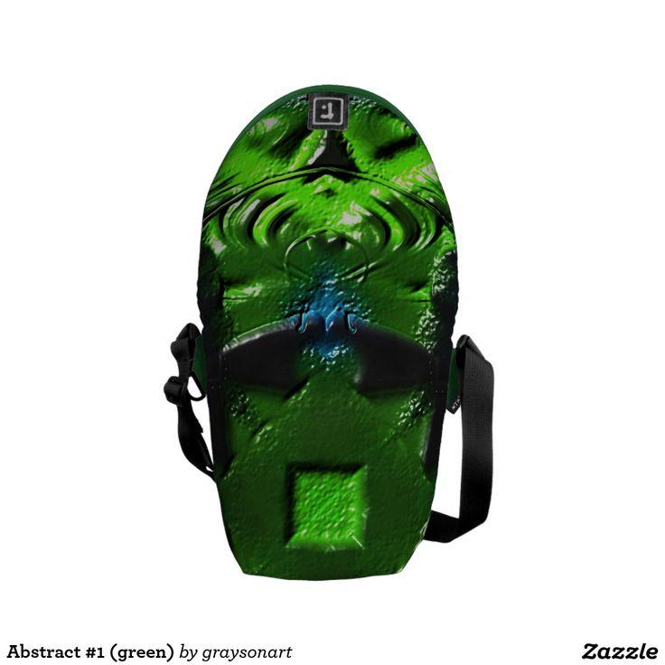 Abstract #1 (green) Rickshaw bag