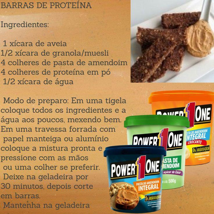 Receita de barras de proteína!
