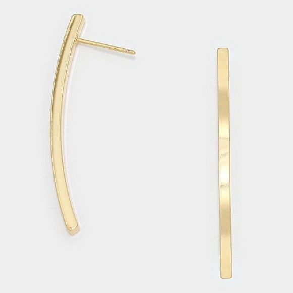 14k gold filled studs Brand new gold filled bar studs-  *please understand that this is retail meaning I had to purchase from a wholesaler so the current price is the only way I will make a profit - price is firm - thank you for your support ❤️ Jewelry Earrings