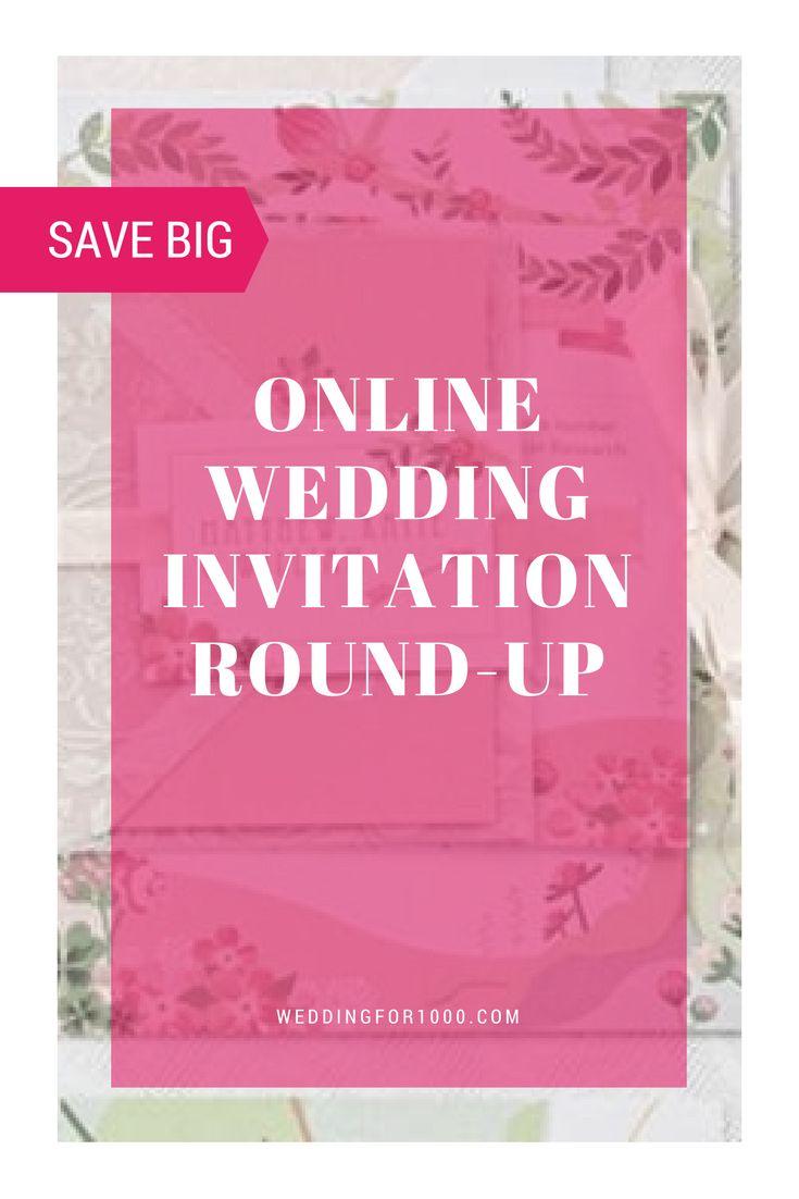 The Best Online Wedding Invitation Round Up