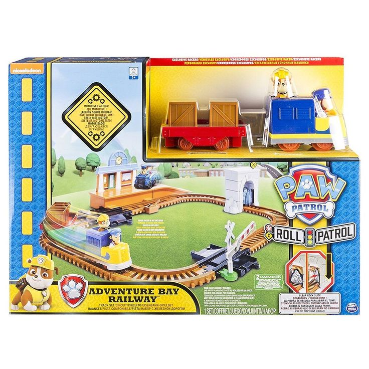 Paw Patrol Fun Adventure Bay Railway Track Playset Toy #PawPatrol