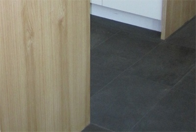 Black Slate Tile Mudroom Floor