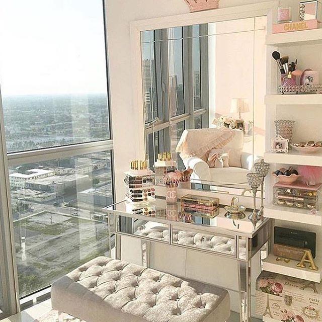Nice Makeup Room Design Ideas Part - 6: 23+ DIY Makeup Room Ideas, Organizer, Storage And Decorating