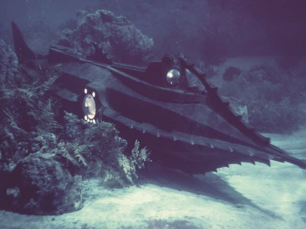 The Nautilus Submarine from Disney's 1954 epic movie 20,000 Leagues Under the Sea.