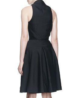 B2RZB Alexander McQueen Sleeveless Halter-Front A-line Dress