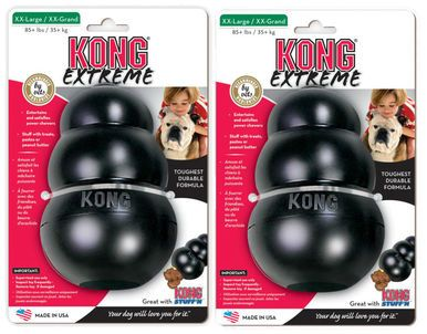 Kong EXTREME XX-LARGE Rubber Chew Toy For Dogs World's Best Dog Toy (UKK) 2 PACK