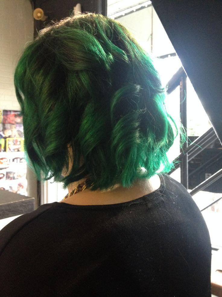 Green Hair #hair #green #curl #color #love #it