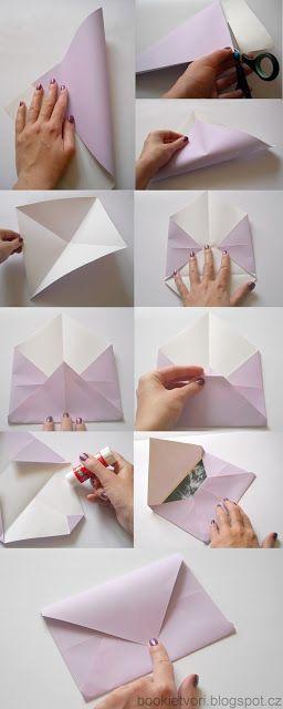 Návody, nápady a výtvory: Jak si složit vlastní obálku?