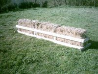 wouldnt even need the frame... just the bales of straw!