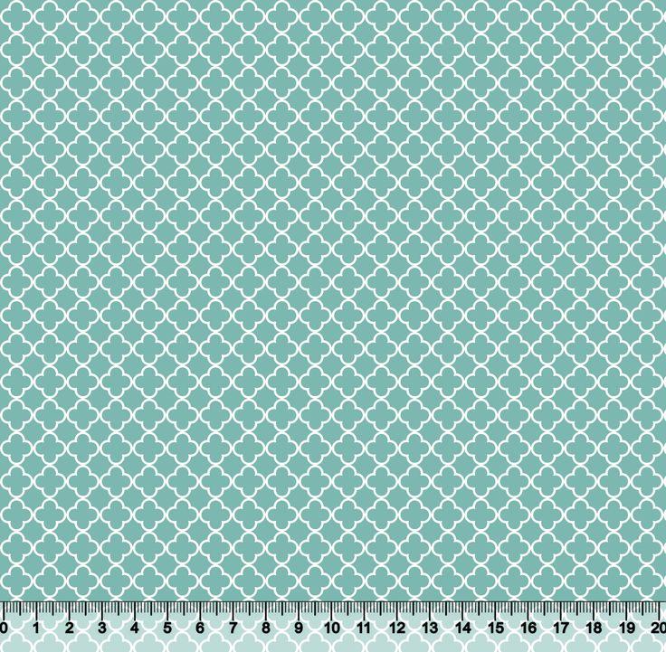 Estampa Quadrifólio Tiffany | Desenho 5204 Variante 37