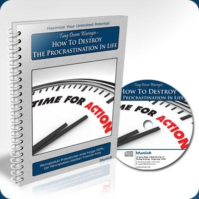 Tingkatkan PRODUKTIVITAS Kerja ANDA Hingga 500% dengan 3 Langkah MUDAH dan GRATIS  http://tdwclub.com/destroy-procrastination/