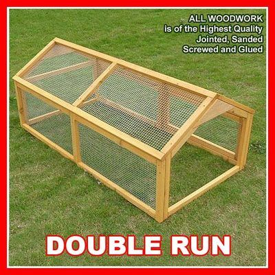 DOUBLE LARGE RABBIT RUN GUINEA PIG CHICKEN FERRET RUNS - 5th village