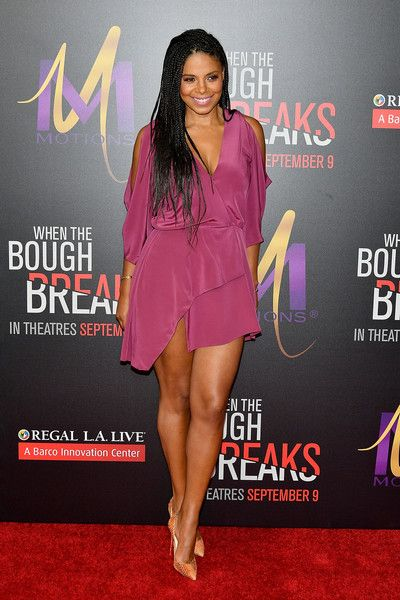 "Actress Sanaa Lathan attends the premiere of Sony Pictures Releasing's ""When The Bough Breaks"" at Regal LA Live Stadium 14 on August 28, 2016 in Los Angeles, California."