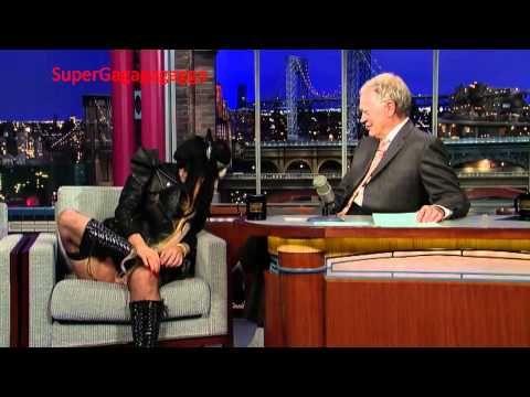 Sometimes weird isn't cool, it's just weird...Lady Gaga David Letterman
