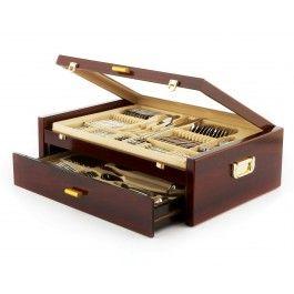Mercer Gold Flatware Set, 84 pc (service for 12)