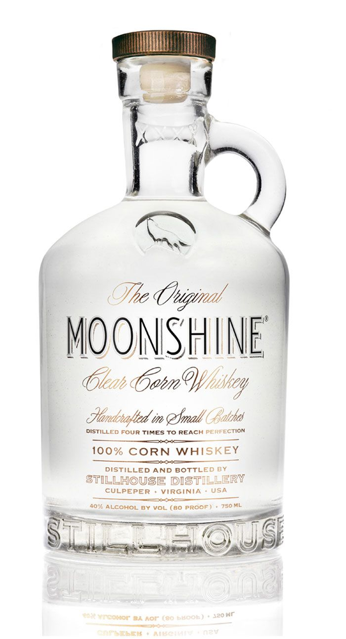 Original MOONSHINE® Clear Corn Whiskey is hand-crafted from 100% estate-grown corn and distilled four times in a Prohibition-era copper pot ...