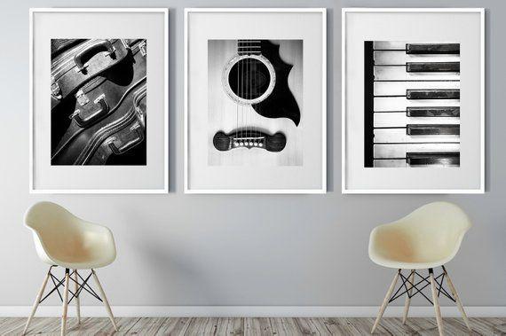 Music Print Set Of 3 Printable Music Set Music Wall Art Etsy Music Wall Art Music Wall Music Print