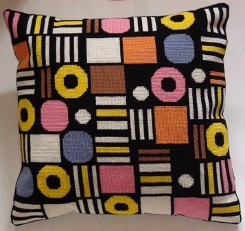 "I love English Liquorice Allsorts... this is a kit for ""counted tapestry"" cushion at Folksy"