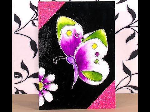 Como Hacer Cuadro de Mariposa en Tecnica de Esmaltado - HogarTv por Juan Gonzalo Angel - YouTube