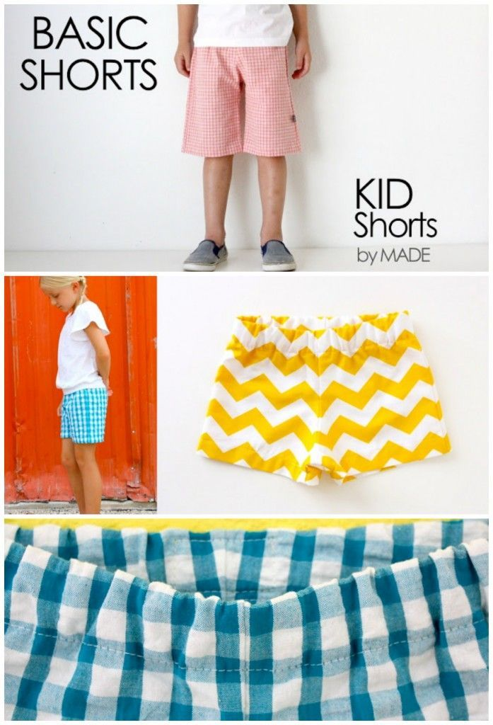 Basic Shorts sewing patterns for kids