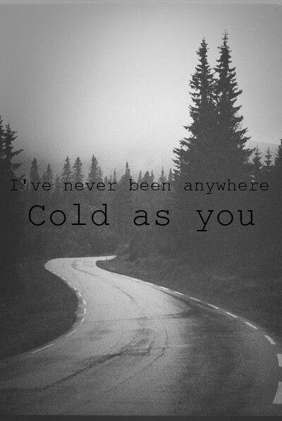 Taylor Swift. Cold as you. Lyrics