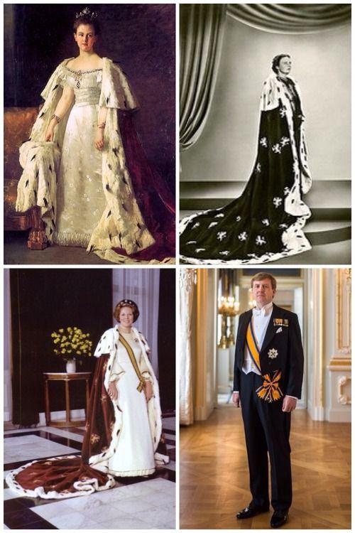 Dutch Monarchs Portraits-Queen Wilhelmina, Queen Juliana, Queen Beatrix, King Willem-Alexander